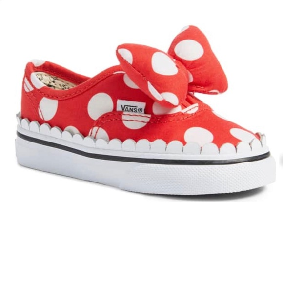 Wtags Baby Minnie Mouse Bow Disney Vans